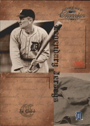 Photo of 2004 Donruss Classics Legendary Jerseys #43 Ty Cobb