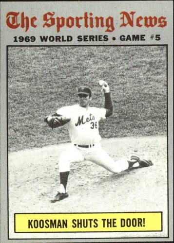 Photo of 1970 Topps #309 World Series Game 5/Jerry Koosman