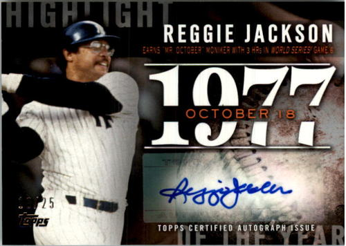 Photo of 2015 Topps Highlight of the Year Autographs #HYARJ Reggie Jackson UPD