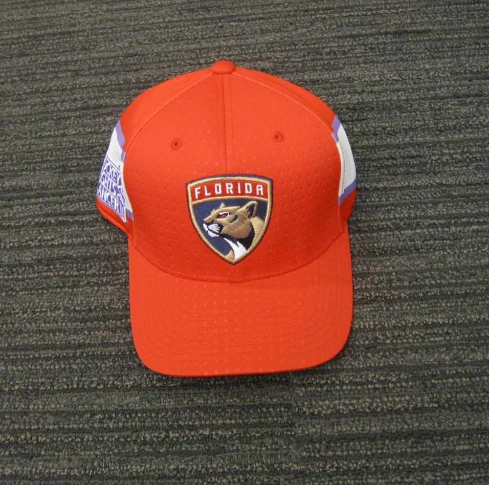 Jonathan Huberdeau 2017 HFC Player Cap from Player Media Tour - Florida Panthers