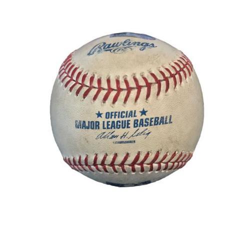 Photo of Game-Used Baseball from Pirates vs. Orioles on 5/20/14 - Adam Jones Single