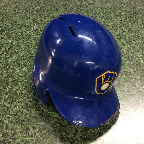 Photo of Travis Shaw 2018 Game-Used Retro Batting Helmet