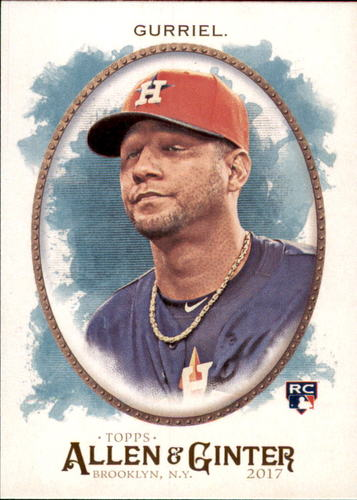 Photo of 2017 Topps Allen and Ginter #27 Yulieski Gurriel Rookie Card
