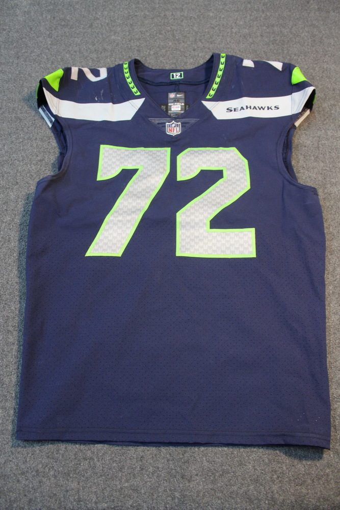 a91b6d74bdb Crucial Catch - Seahawks Michael Bennett game worn Seahawks Jersey (October  29, 2017)