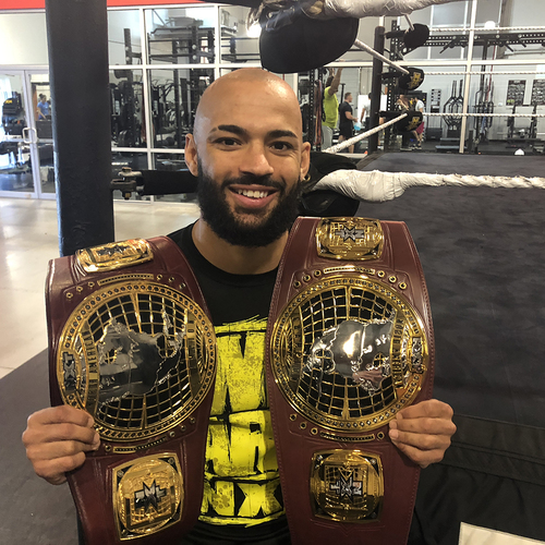 Ricochet SIGNED North American Championship Replica Title