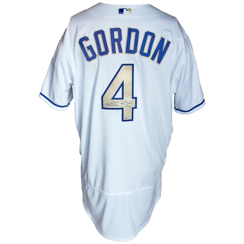 Photo of Autographed Gold Jersey: Alex Gordon