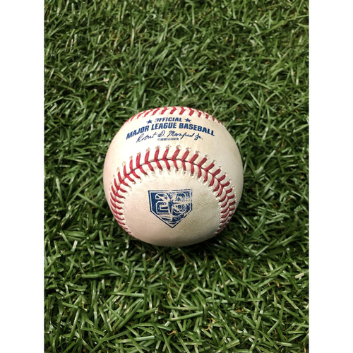 Photo of 20th Anniversary Game Used Autographed Baseball: Blake Snell strikes out Luca Duda - August 21, 2018 vs. KC (Autographed by Snell)