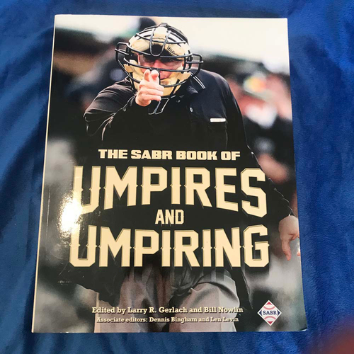 Photo of UMPS CARE AUCTION: The SABR Book of Umpires and Umpiring