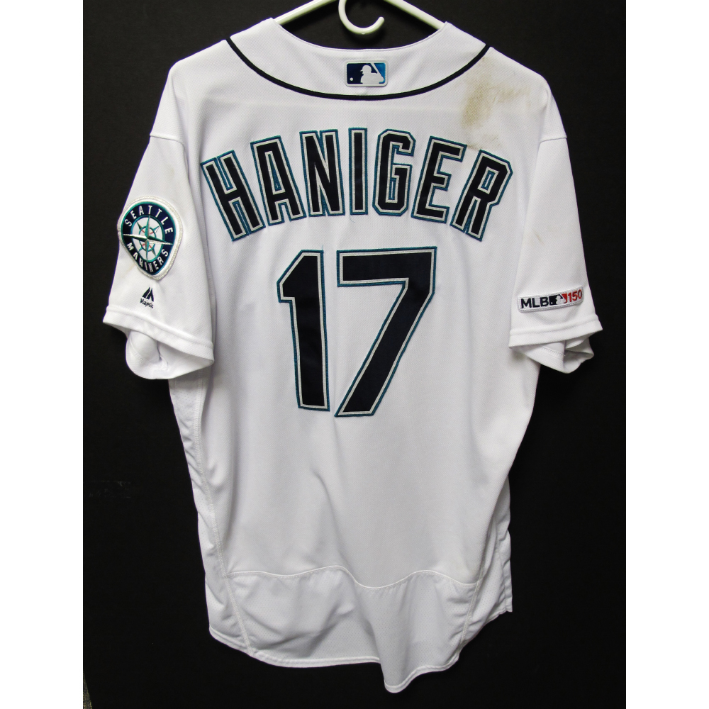 innovative design 3f62c 7f0cf MLB Auctions | Mitch Haniger Game-Used Home White Jersey ...