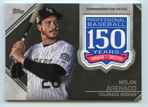 Photo of 2019 Topps 150th Anniversary Manufactured Patches #AMPNA Nolan Arenado S2
