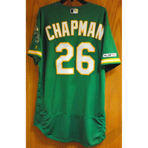 Photo of Matt Chapman 2019 Game-Used Jersey (HR #16)