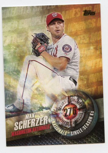 Photo of 2016 Topps Record Setters #RS5 Max Scherzer