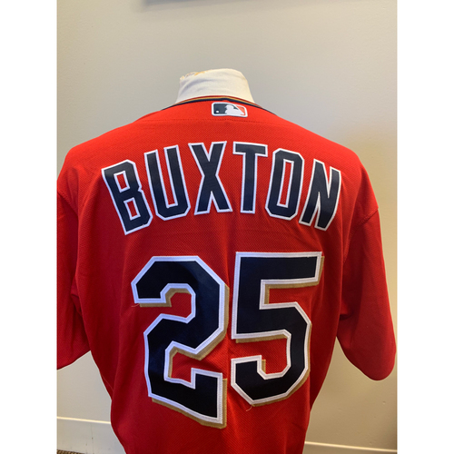 Photo of Minnesota Twins - 2019 Game-Used Spring Training Jersey - Byron Buxton