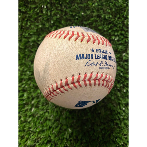 Photo of Adam Duvall Game Used Hit Double Baseball - August 2, 2020