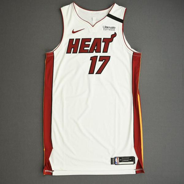 Image of Kyle Alexander - Miami Heat - Game-Issued Association Edition Jersey - 2019-20 NBA Season Restart with Social Justice Message