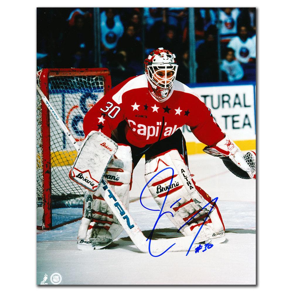 Jim Carey Washington Capitals ACTION Autographed 8x10