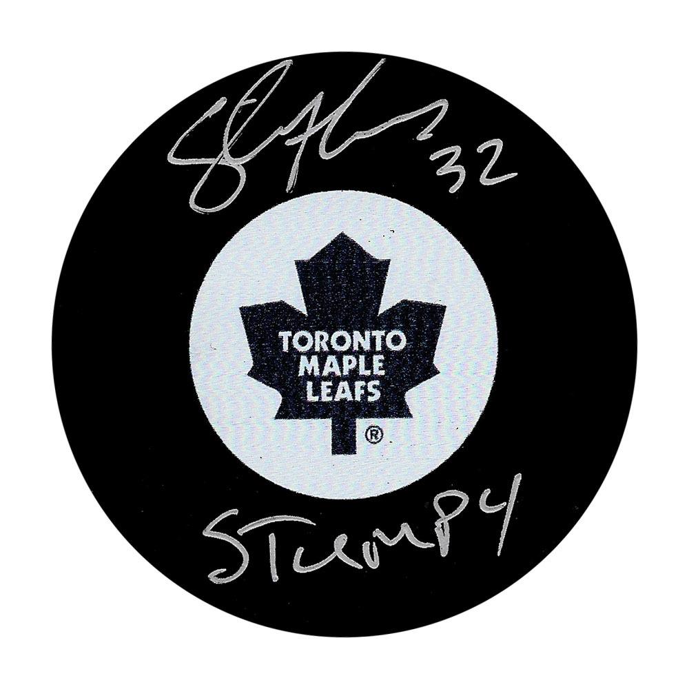 Steve Thomas Autographed Toronto Maple Leafs Puck w/STUMPY Inscription