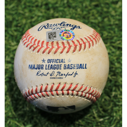 Game-Used Baseball: Yolmer Sanchez 112th Career Double (CWS @ KC 9/6/20)
