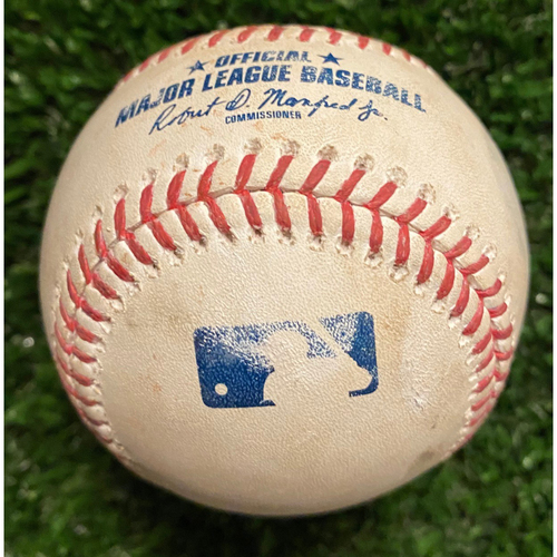 Madison Bumgarner Pitched Ball to Ronald Acuna Jr - Foul Ball - 4/25/21 Game 2 of Doubleheader - Bumgarner 7 Inning No Hitter
