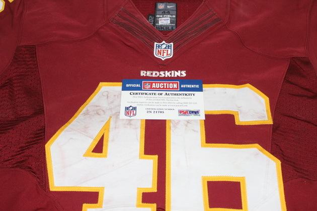 NFL Auction | STS - REDSKINS ALFRED MORRIS GAME WORN REDSKINS ...