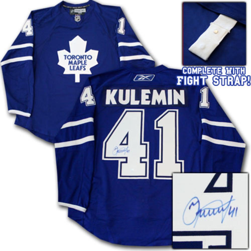 Nikolai Kulemin Autographed Toronto Maple Leafs Authentic Pro Jersey