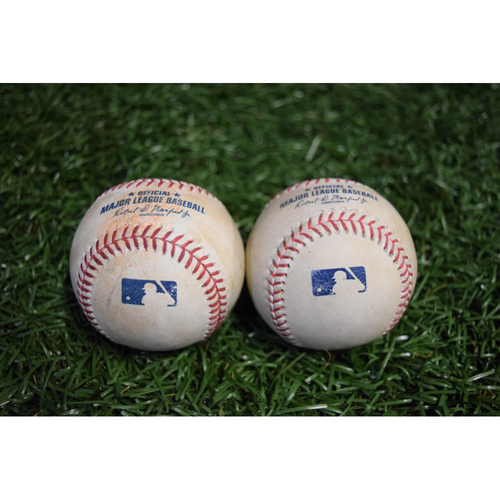 Photo of Game-Used Baseballs - September 29, 2017 - Mallex Smith and Peter Bourjos Singles