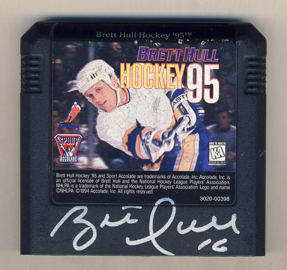 Brett Hull St. Louis Blues Autographed Video Game Cartridge