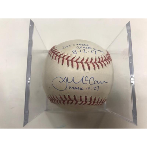 Photo of Autographed Player-Collected Baseball: James McCann 2nd Career Grand Slam