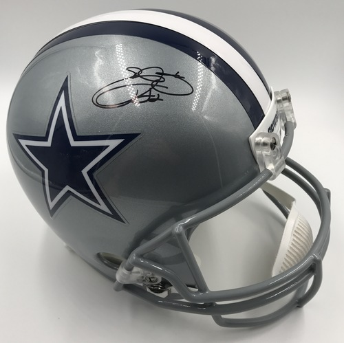 Photo of Emmit Smith Autographed Dallas Cowboys Football Helmet