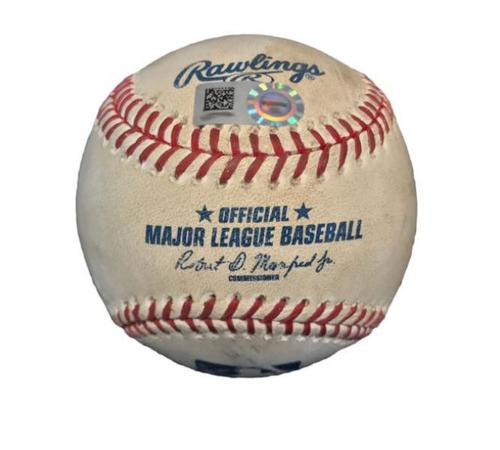 Photo of Game-Used Baseball from Pirates vs. Cardinals on 5/9/15 - Matt Holliday Double