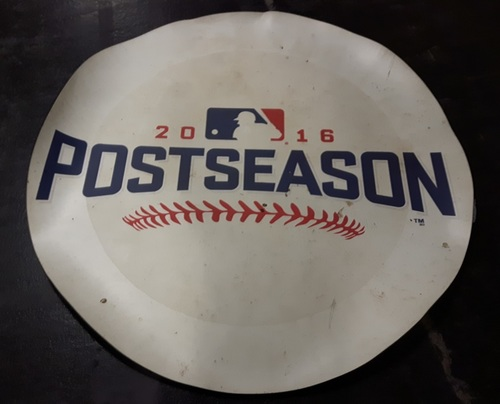 Photo of Authenticated Game Used On Deck Circle - Used October 19 (2016 ALCS Game 5) - Toronto Blue Jays side. Approximately 70 inches in Diameter