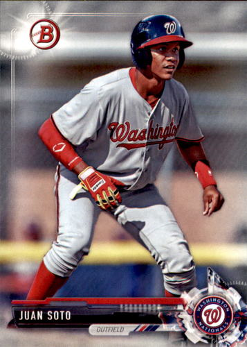 Photo of 2017 Bowman Draft #BD162 Juan Soto -- Ranked #29 of MLB's Top 100 Prospects