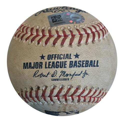 Photo of Game-Used Baseball from Pirates vs. Dodgers on 6/5/18 - Max Muncy Foul
