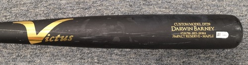 Photo of Authenticated Team Issued Cracked Bat - Darwin Barney
