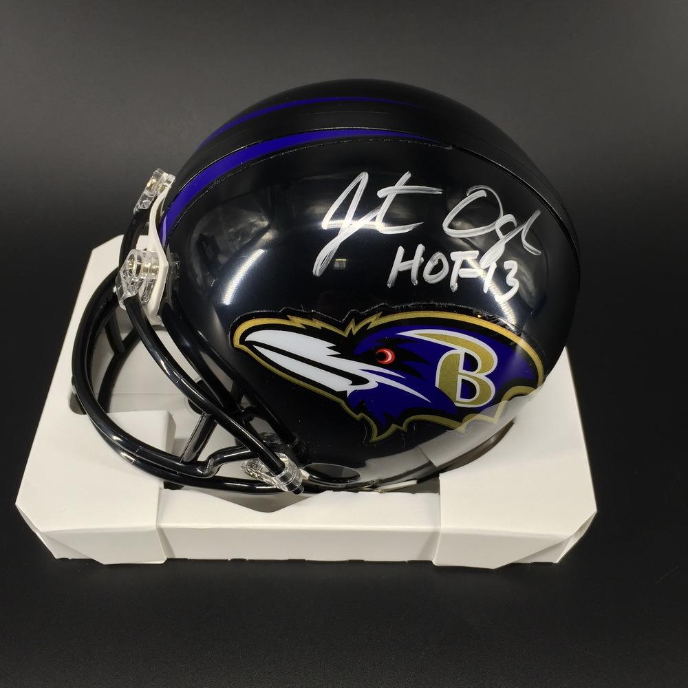 HOF - Ravens Jonathan Ogden Signed Mini Helmet