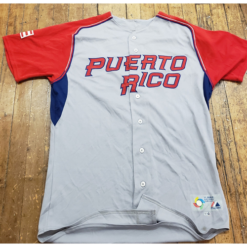Photo of 2009 World Baseball Classic Game Used Jersey - Nelson Figueroa - Size 46 (Puerto Rico)