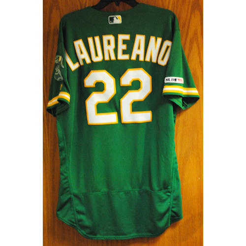 Photo of Ramon Laureano 2019 Game-Used Jersey (HR #7)