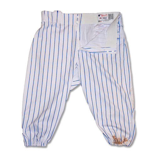 Photo of Todd Frazier #21 - Game-Used White Pinstripe Pants - Mets vs. Braves - 9/29/19