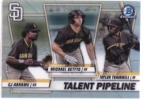 Photo of 2020 Bowman Chrome Talent Pipeline #TPSDP Michael Gettys/CJ Abrams/Taylor Trammell