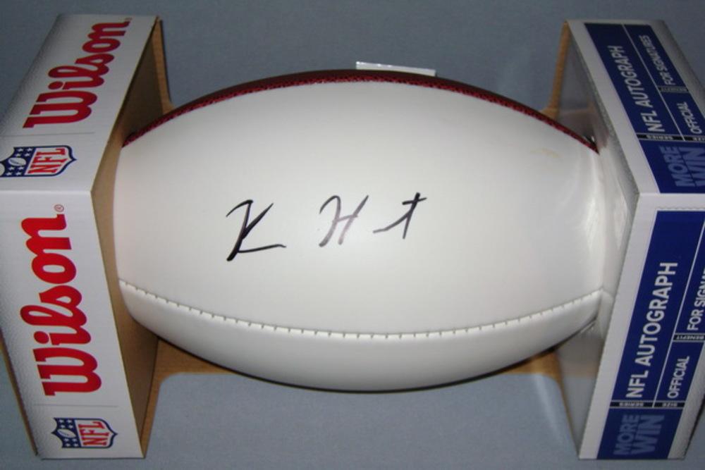 NFL - BROWNS KAREEM HUNT SIGNED PANEL BALL