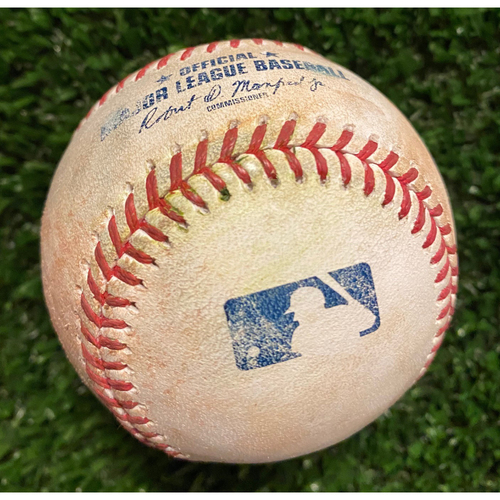 Photo of Asdrubal Cabrera Game-Used Hit Double Ball - 4/25/21 vs. Diamondbacks - Game 2 - Bumgarner 7 Inning No Hitter