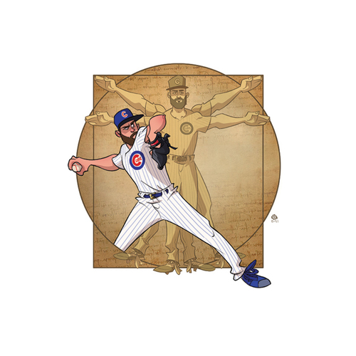"""Photo of Limited Edition Kev Roche """"Super-Hero"""" Prints -- Autographed by Jake Arrieta"""