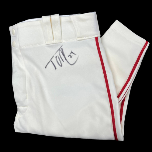 Photo of Tyler O'Neill Autographed Team Issued Home Alternate Pants (Size 34)