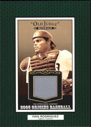 Photo of 2005 Origins Old Judge Materials Jersey #IR Ivan Rodriguez