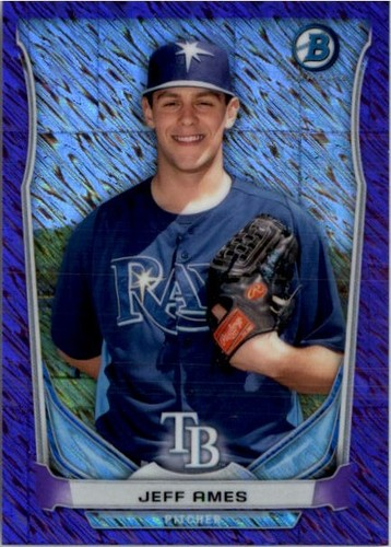 Photo of 2014 Bowman Chrome Bowman Scout Top 5 Mini Purple Refractors #BMTBR5 Jeff Ames