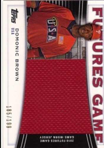 Photo of 2010 Topps Pro Debut Futures Game Jersey #DB Domonic Brown S2