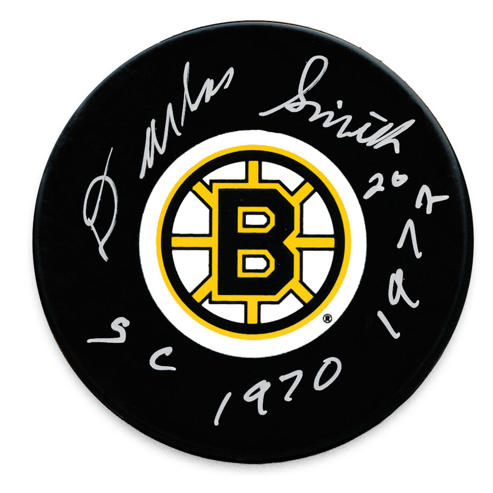 Dallas Smith Boston Bruins SC Years Autographed Puck