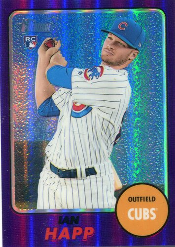 Photo of 2017 Topps Heritage Chrome Purple Refractors  Ian Happ