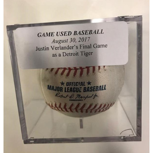 Game-Used Baseball From Justin Verlander's Final Game as a Detroit Tiger