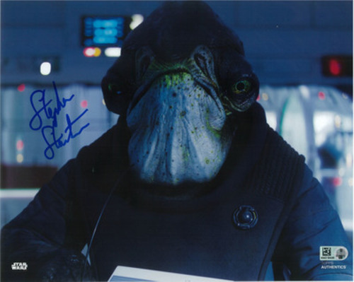 Stephen Stanton as Admiral Raddus 8x10 Autographed in Blue Ink Photo